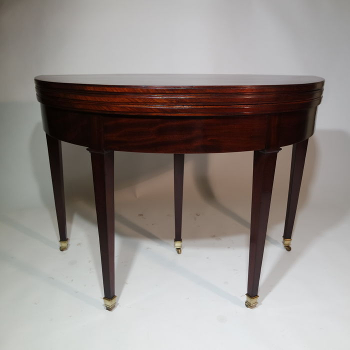 Superb Mahogany Table That Can Be Used In Three Ways Console Table Game Table Dining Table France 1850 Catawiki Ncnpc Chair Design For Home Ncnpcorg