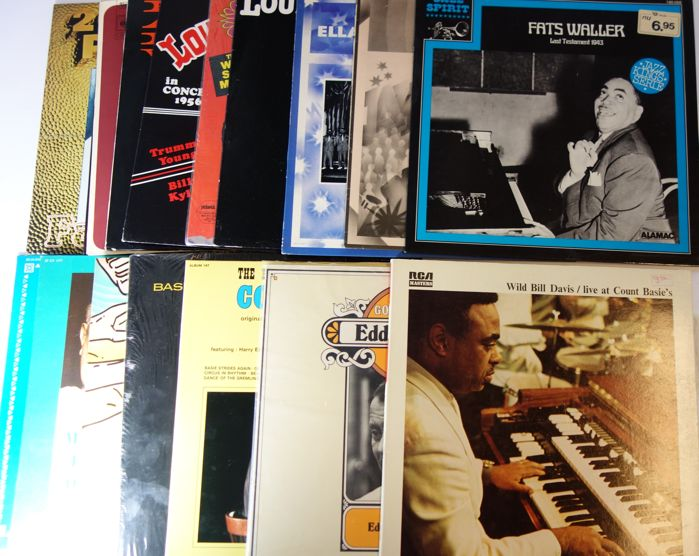 Jazz; Eddie Condon, Fats Waller, Chick Webb, Count Basie  & others - lot with 18 albums