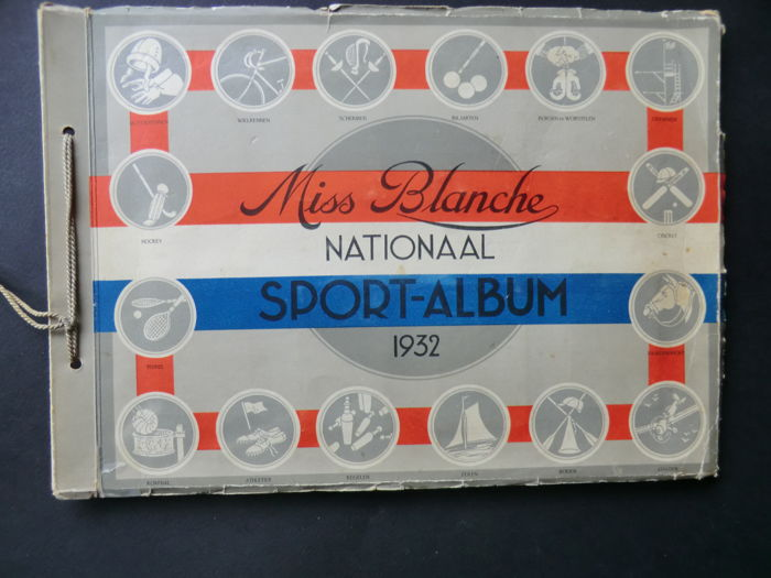 Variant of Panini - Miss Blanche National sports album 1932 - Complete with 200 pictures of Dutch athletes