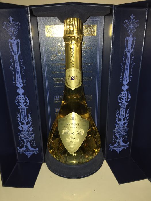 1996 Champagne Louis XV de Venoge Brut in carafe and with luxury ...
