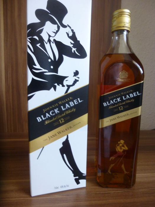 "Johnnie Walker Black Label ""Jane Walker"" Limited Edition 750ml 40% vol/alc"