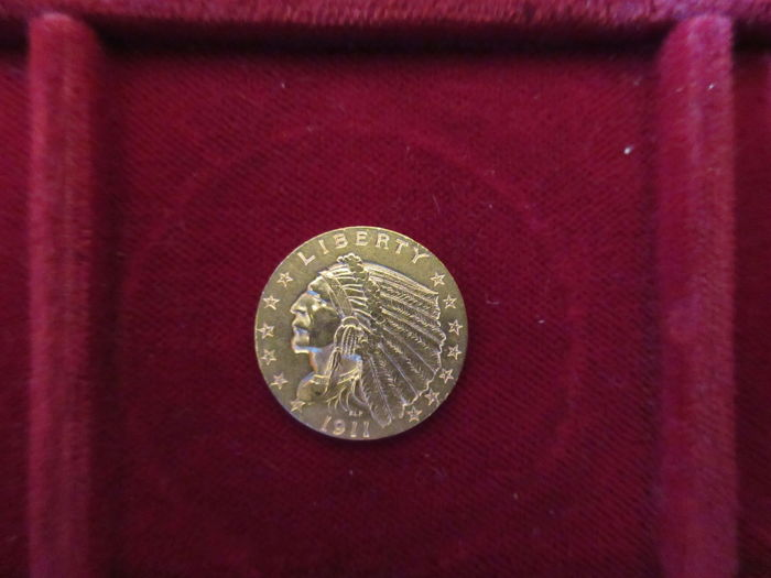 United States - 1911 - 2½ dollars gold Indian Head - Krause KM #128