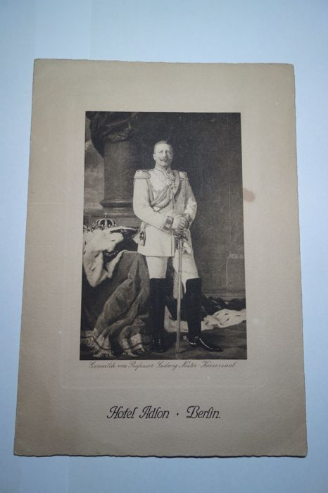 Menu for the birthday celebrations of his Majesty Emperor Wilhelm II on 27th January 1911 at the Hotel Adlon in Berlin