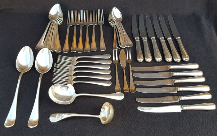 lot of 44 pieces silver plated Keltum cutlery Dutch smooth - The Netherlands - 20th century