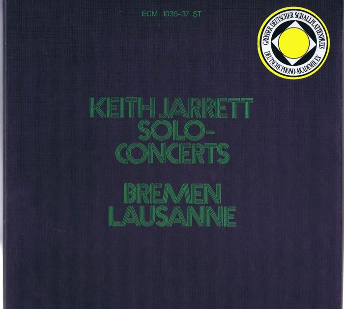 Keith Jarrett - 3LP Boxset: Solo Concerts: Bremen / Lausanne (ECM Records ‎ECM 1035-37 ST) made in Germany 1973 in close to new condition.