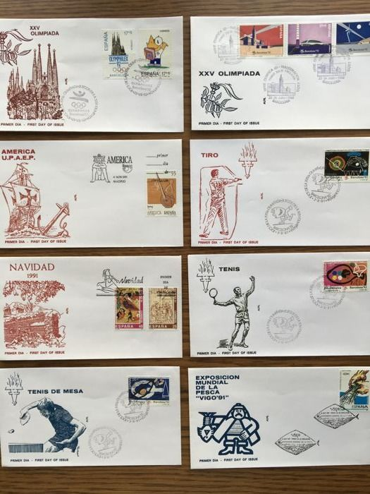 Spain 1970s/1980s - Lot of 250 different first day covers.