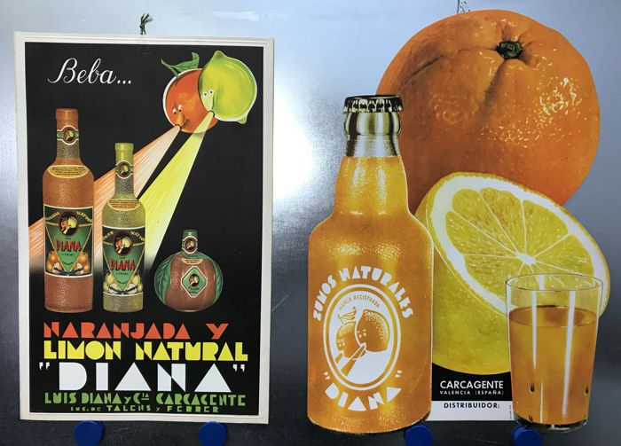Diana - Natural Juices of Orangeade and Natural Lemon - Carcagente, Valencia (Spain) - c.1960