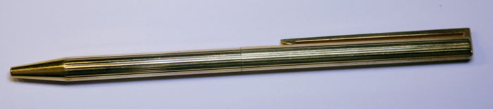 Authentic yellow gold ballpoint pen ST Dupont