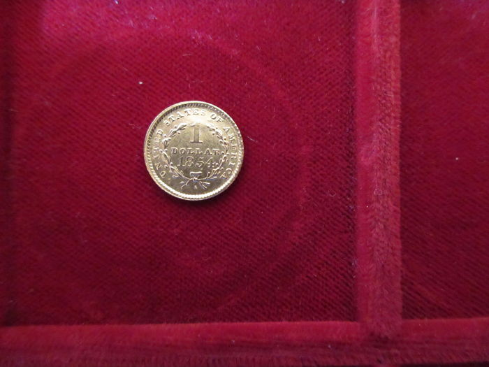 United States - 1854 - 1 dollar gold Liberty Head - Krause Km#73
