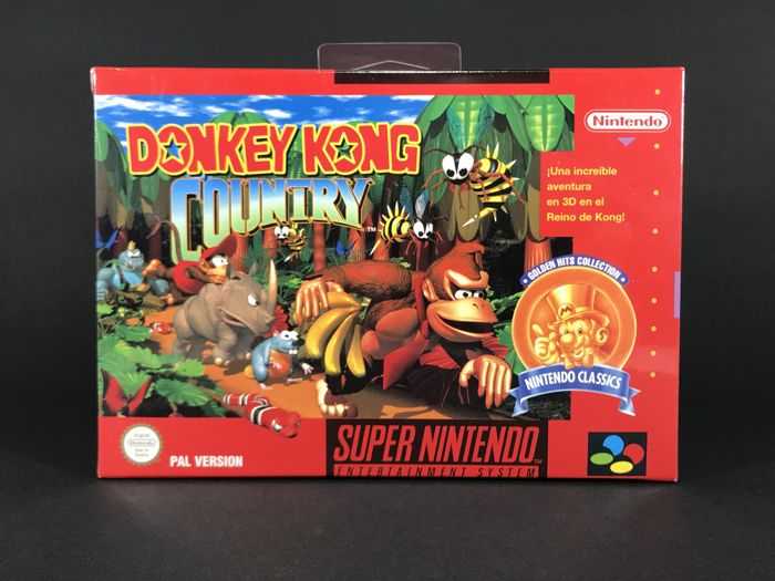 Súper Nintendo Game - Donkey Kong Country - PAL/ESP