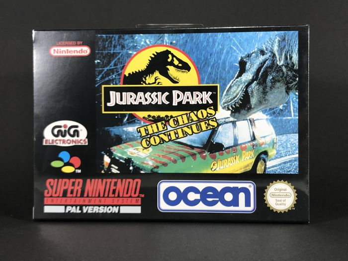 Súper Nintendo Game - Jurassic Park 2 The Chaos Continued