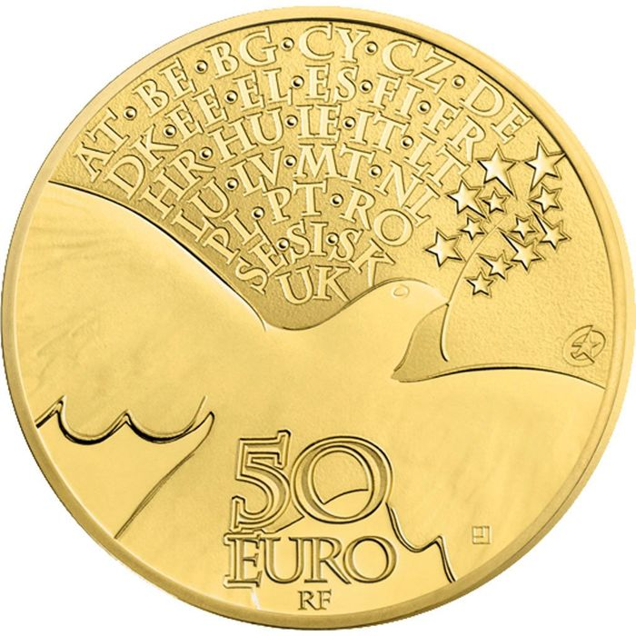 France - 50 Euro 2015 'Peace in Europe' - gold