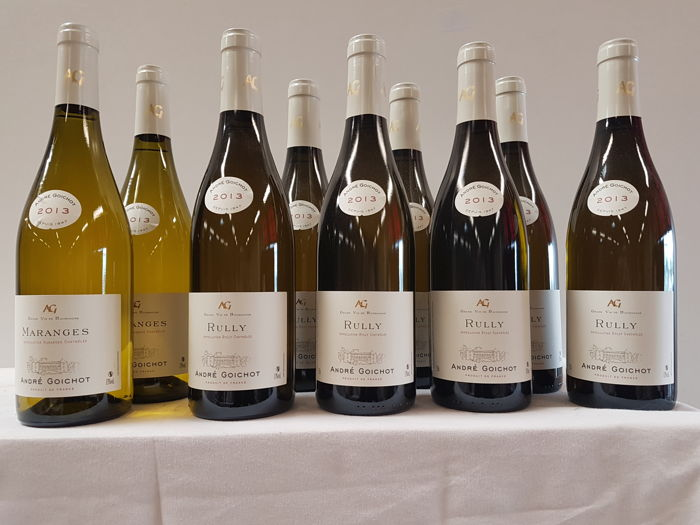 André Goichot: 2x 2013 Maranges & 7x 2013 Rully - 9 bottles in total