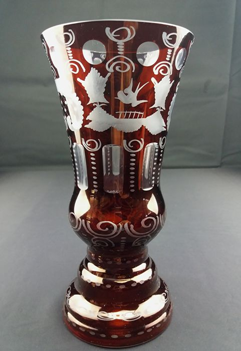 Egermann Antique Ruby Red Crystal Vase Catawiki