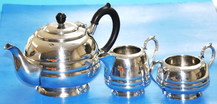 Walker & Hall Silver Plate Tea Set