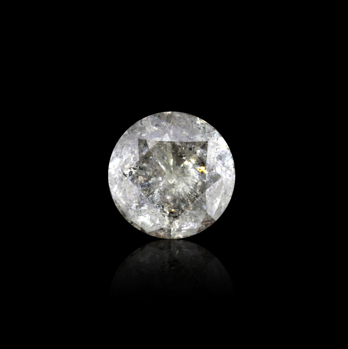 Natural I color 7.52 Ct. Round Brilliant cut diamond, AIG Certified