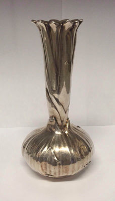 "Christofle vase ""Oignon"" - silver-plated in original box - marked"