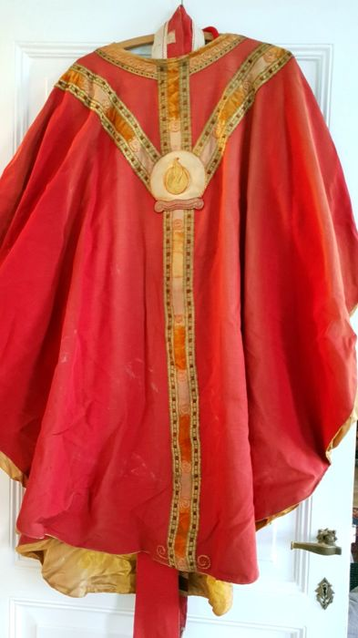 Beautiful liturgical robe - Belgium - early 20th century / late 19th century