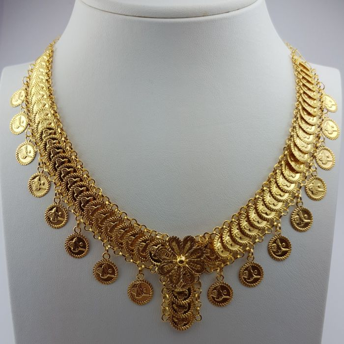 22 Ct  Gold Traditional Necklace, Purity: 916/1000, Length: 50cm