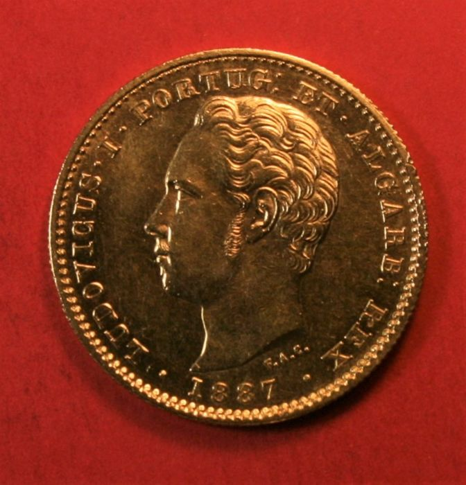 Portugal, Monarchy - Luís I (1861-1889) - 5,000 Reis - 1887 - Gold