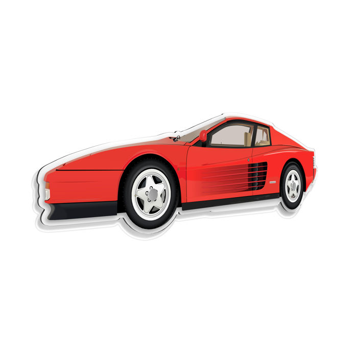 SL - Wall Scale Model Halmo Collection Ferrari Testarossa