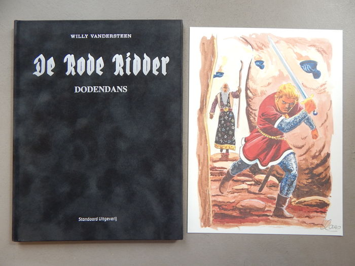 De Rode Ridder 246 - Dodendans + signed print - artist's proof - super de luxe velvet hardcover - first edition (2015)