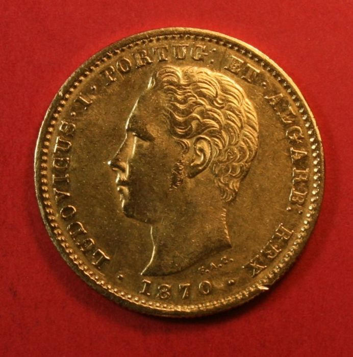 Portugal Monarchy – D. Luís I (1861-1889) – 5,000 Reis – 1870 – Gold