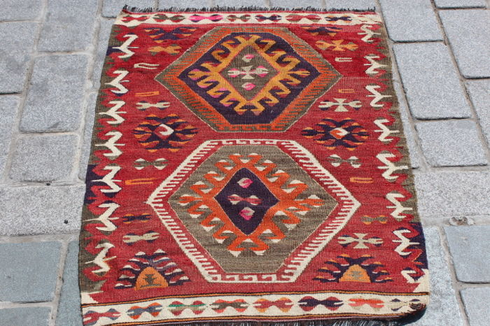 Old Kilim from Mut, Turkey, 76 x 101 cm
