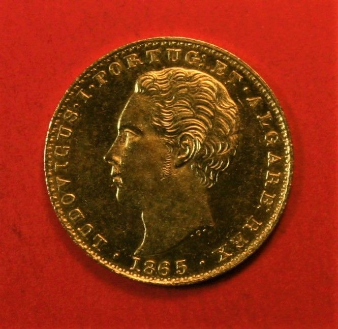 Portugal, Monarchy - Luís I (1861-1889) - 2,000 Reis - 1865 - Gold