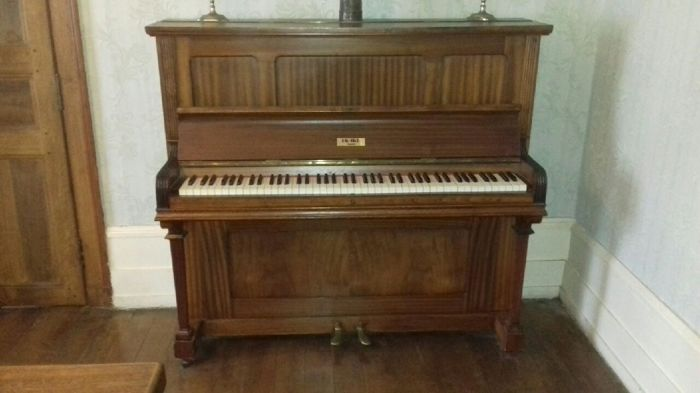 Antique Wooden Upright Piano
