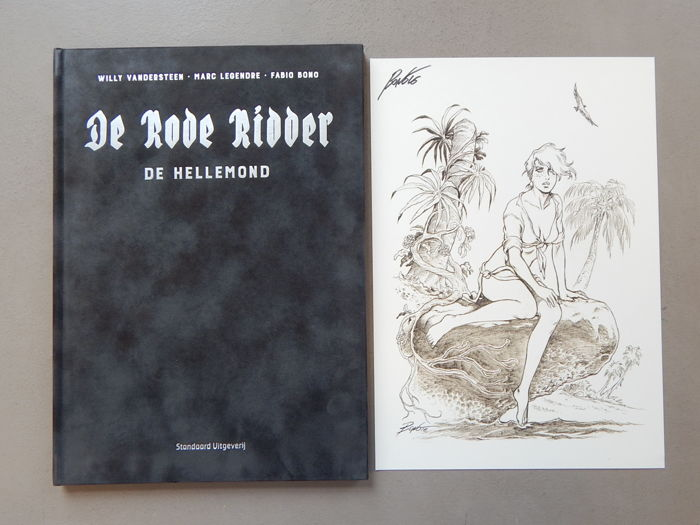 De Rode Ridder 252 - De Hellemond + signed print - artist's proof - super de luxe velvet hardcover - first edition (2016)