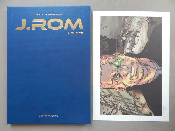 J.Rom #2 - Helder + signed print - artist's proof - luxury (artificial) leather hardcover - first edition (2015)