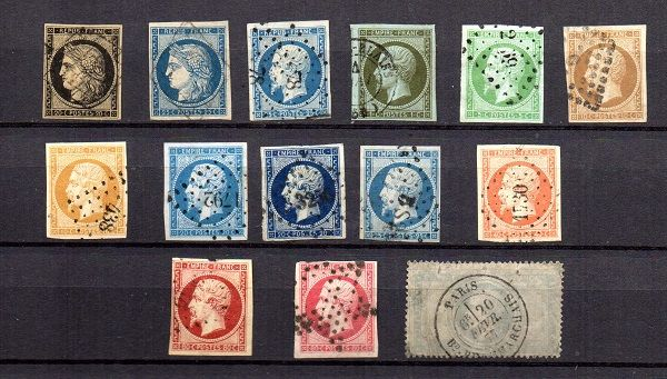France 1849/69 - Selection of Céres and Napoleon - Yvert between 3 and 33