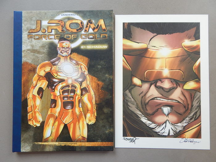 J.Rom #1 - Schaduw + signed print - artist's proof - luxury hardcover with leather spine - first edition (2014)