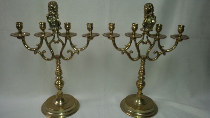 Set of bronze candlesticks - the Netherlands - early 20th century