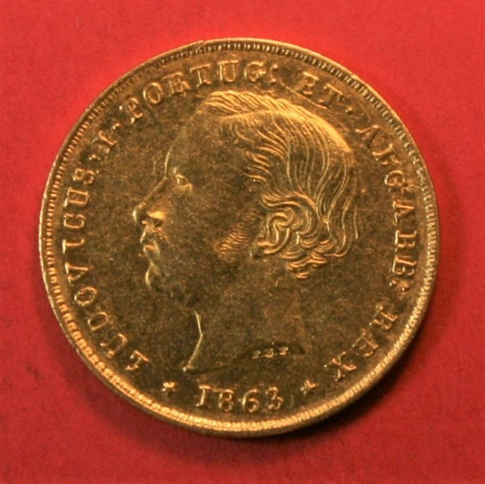 Portugal Monarchy – D. Luís I (1861-1889) – 5,000 Reis – 1863 – Gold