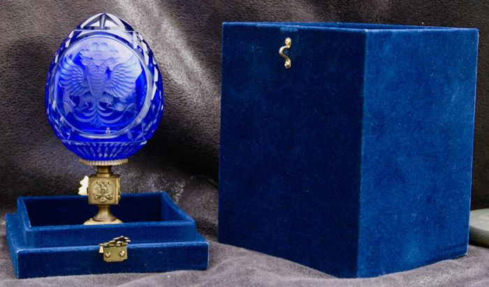 Imperial 3D Faberge Egg with box and certificate 'Grand Romanov Eagle' N°22 / 500
