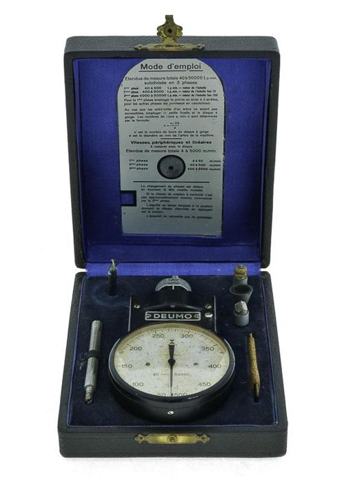 Tachometer - Deumo, Made in Germany early 20th century