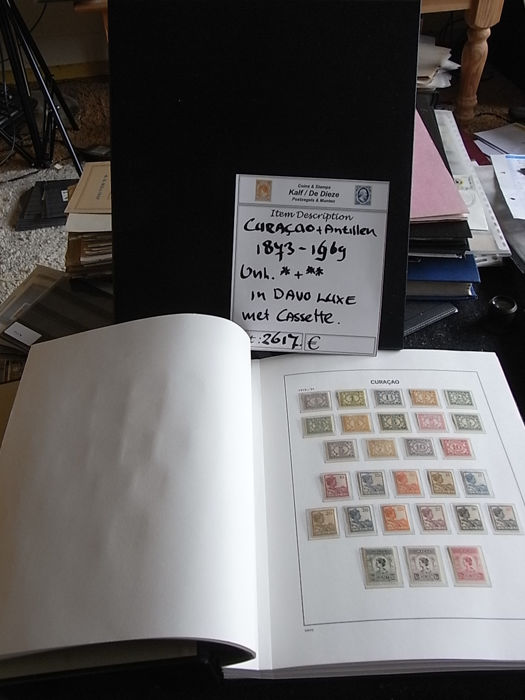 Curaçao and Netherlands Antilles 1883/1969 – Collection in Davo LX album with slipcase