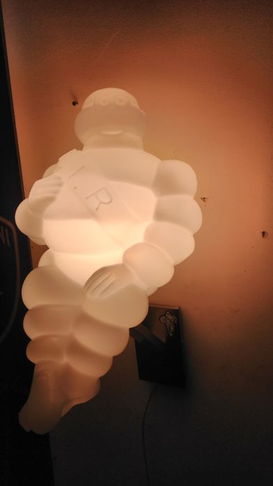Lamp INOX - Snowy BIBENDUM - strong LED 10watt - to hang on the wall or on the car - ca. 45cm long.