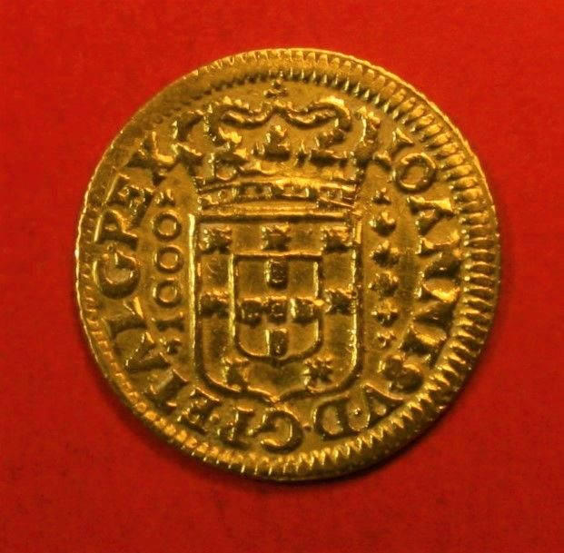 Portugal Monarchy – D. João V (1706-1750) – Quartinho (1.200 Reis) – 1711 – Gold