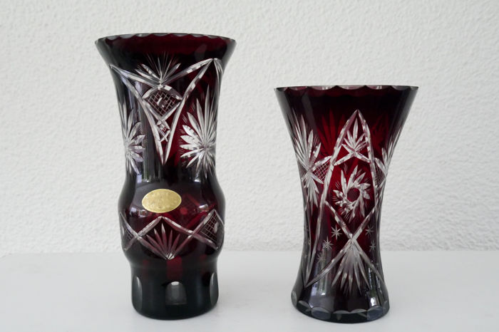 Two vases, crystal