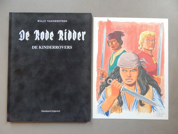 De Rode Ridder 245 - De Kinderrovers + signed print - artist's proof - super de luxe velvet hardcover - first edition (2015)