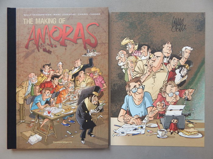 Suske en Wiske - Amoras - The making Of + signed print - artist's proof - luxury hardcover with a linen spine - first edition (2016)