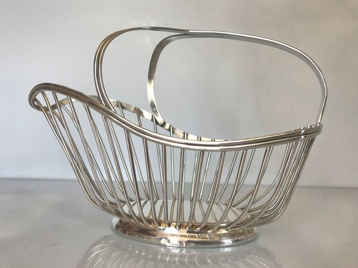 Christofle, Gallia Collection - wine basket, 20th century - (silver plated metal)