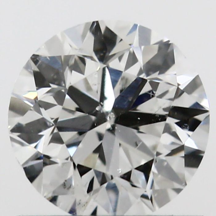 Diamond colour G, clarity SI2 - 3EX certified and engraved GIA 0.60 ct