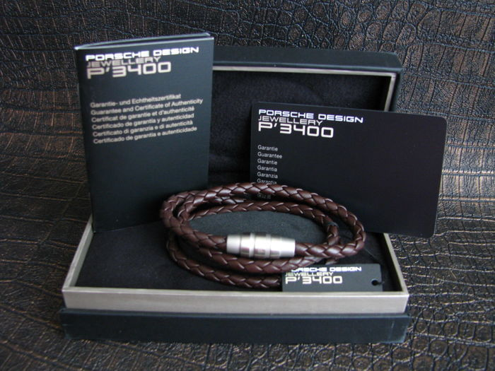 Original Porsche Design bracelet Grooves brown 19 cm