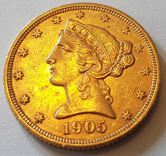 United States - 5 dollars 1905 'Coronet Head' - gold