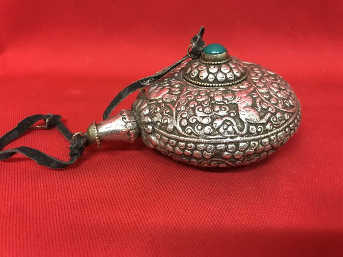 Antique silver incense holder - Nepal - late 20th century