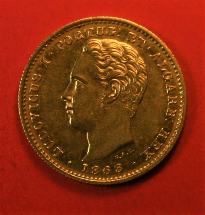 Portugal, Monarchy - Luís I (1861-1889) - 5,000 Reis - 1868 - Gold